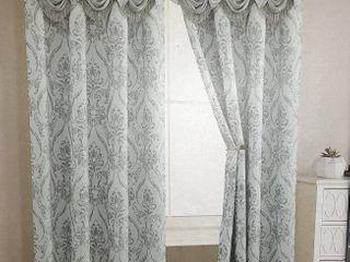 Sun Zero luxurious Old World Style lace Window Curtain Panel
