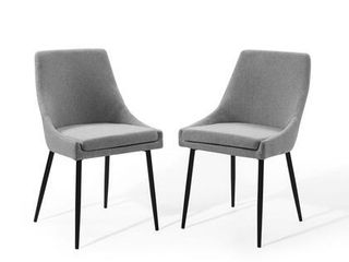Modway Viscount Upholstered Fabric Dining Chairs   Set of 2