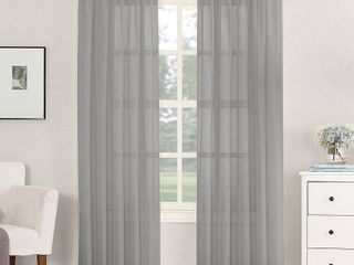 Emily Sheer Voile Rod Pocket Curtains   Set of 2