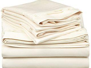 Superior 100  Egyptian Cotton 650 Thread Count Deep Pocket Sheet Set   Cali King