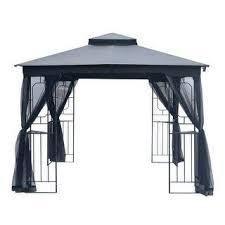 Double Roof Gazebo Canopy w  Mosquito Netting