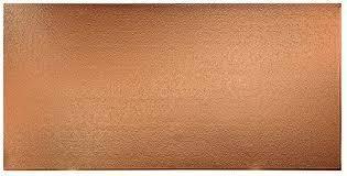 Fasade Hammer Polished Copper Wall Pan