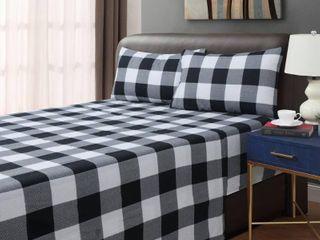 Buffalo Plaid Flannel Sheets   Queen