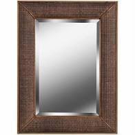 Design Craft Rattan  amp  Wood Mirror