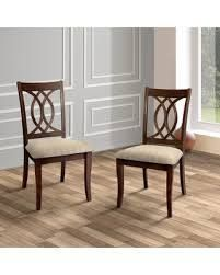 Rustic Cherry Padded Dining Chairs   Set of 2