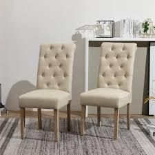 Copper Grove Schwalbach Tufted Parsons Dining Chairs   Set of 2