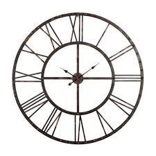 The Gray Barn Oversized Wall Antique Steel w  Roman Numerals