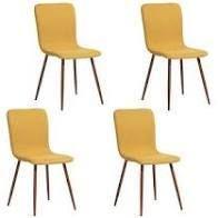 Carson Carrington Viken Fabric Dining Chairs   Set of 4