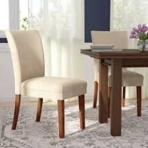 Modway Urban Solid Wood Upholstered Parson Chair