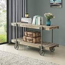 FirsTime  amp  Co  Oxford Factory Cart Console Table