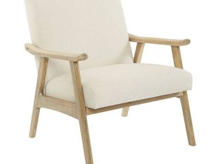 OSP Home Furnishings Weldon Chair w  Brushed Finished Frame