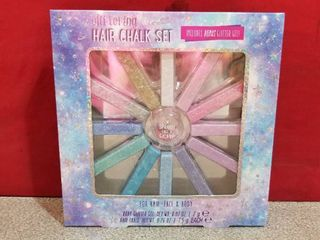 Glittering Hair Chalk Set 12 Colors  For Hair  Face   Body  Sealed