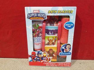 Marvel Super Hero Bath Blaster Body Wash With 4 Foam Targets