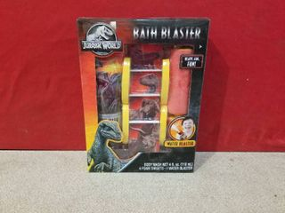 Jurassic World Water Bath Blaster Kids Toy With Blaster  4 Targets And Body Wash