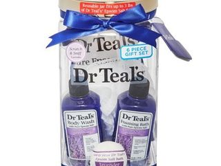 Dr Teal s 5 Piece Soothe and Sleep Bath Gift Set with lavender