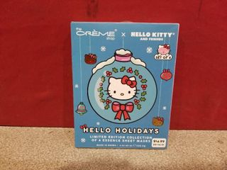 The Creme Shop Hello Kitty Set Of 4 Holiday Essence Sheet Masks   In Box