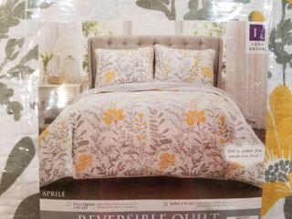 Copper Grove Patos Reversible 3 piece Quilt Set  Retail 116 99 King