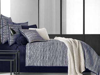 OscarOliver Flen Cotton 4 Pc  Indigo Queen Comforter Set Bedding