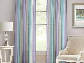 2 Curtain Panels Achim lilac  Purple  Turquoise Stripe