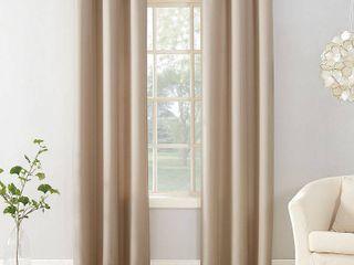 2 84 x40  Sora Casual Textured light Filtering Grommet Top Curtain Panel Beige   No  918