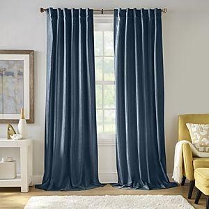 2 Carnaby 50  x 84  Distressed Velvet Curtain Panel