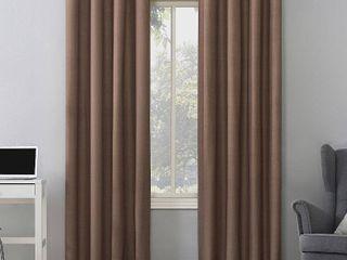 2 84 x50  Duran Thermal Insulated Total Blackout Grommet Top Curtain Panel Orange   Sun Zero