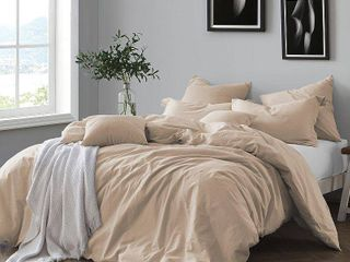 All Natural luxurious Prewashed Cotton Chambray Duvet Cover Set  Retail 79 98