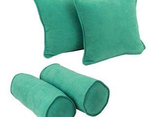 Emerald  Blazing Needles Microsuede Throw Pillow Set  Set of 4
