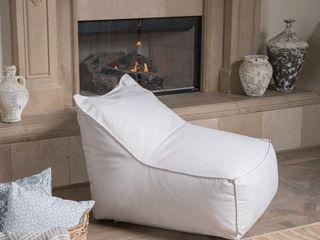 Khaki  Siarl Modern 3 Foot Fabric Bean Bag Chair by Christopher Knight Home  Retail 126 49