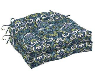 18 in l x 20 in W x 5 in H   Blue  Arden Selections Sapphire Aurora Damask Wicker Seat Cushion 2 pack   18 in l x 20 in W x 5 in H