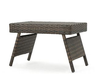 Outdoor Wicker Adjustable Folding Table by Christopher Knight Home  Retail 84 99