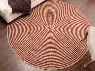 Impressions lenexa Braided Jute Indoor Round Area Rug