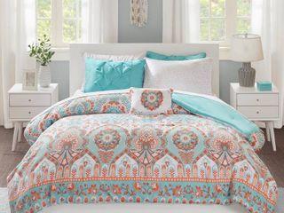 Queen  Avery Aqua Comforter and Sheet Set by Intelligent Design