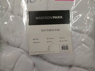 Madison Park Heavenly Soft Overfilled Mattress Pad Twin