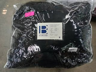 Queen  Black Touchy Feely Coma Inducer Oversized Comforter  Retail 110 20
