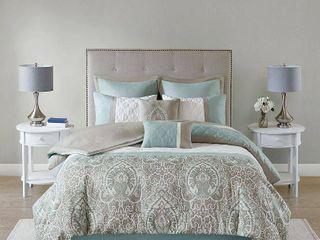 Seafoam   Queen  510 Design Josefina 8 Piece Comforter Set  Retail 118 49