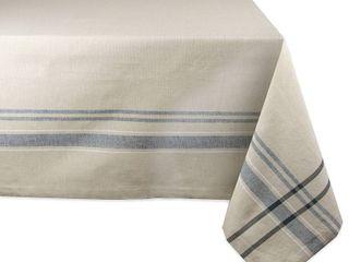 60 x 120  Blue French Stripe Tablecloth