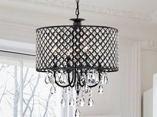 Pluto Crystal 4 light Dimmable Drum Chandelier  Retail 123 99