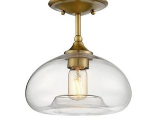 Meridian M60017NB 1 light Semi Flush   Natural Brass