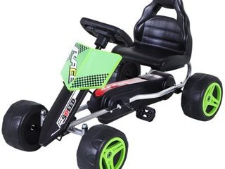 Aosom Kids Go Kart  4 Wheeled Ride On Pedal Car  Racer for Boys and Girls for Outdoor