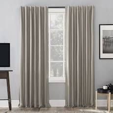Sun Zero Evelina Faux Dupioni Silk Thermal Curtains