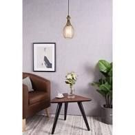 6 7 12 8   Brass  Carbon loft Vera 1 light Pendant