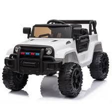 White  12V Electric Kids Ride On Car with Remote Control 3 Speeds  MP3 player  lED lights  Retail 168 49