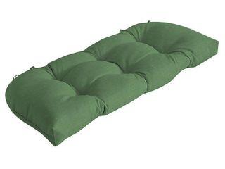 Arden Selections Moss leala Texture Wicker Settee Cushion   18 in l x 41 5 in W x 5 in H0