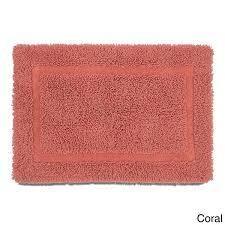 Coral  Copper Grove Eakin 100 percent Cotton Ringspun Bath Rug