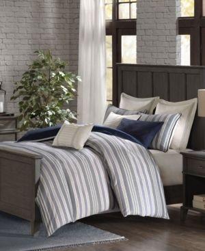 Madison Park Signature Farmhouse Blue Comforter Set   Retail 219 99