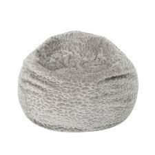 Joplin Modern 3 Foot Faux Fur Bean Bag  Cover Only  by Christopher Knight Home  Retail 82 49