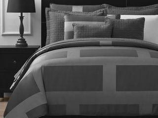 Grey   King  Comfy Bedding Frame Jacquard 5 piece Comforter Set  Retail 123 51
