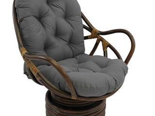 Blazing Needles 48 inch Swivel Rocker Cushion   48 l x 24 w x 5 d  steel grey