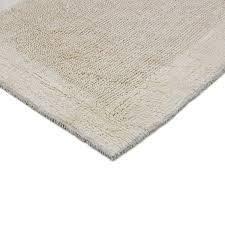 Null  Egyptian Cotton Outside Border Bath Rug   Natural